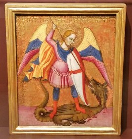 Archangel Michael Slaying the Dragon (Italian, c.1380)