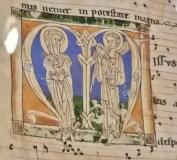 Illuminated Letter M beginning Responsory 'Missus est Gabriel'