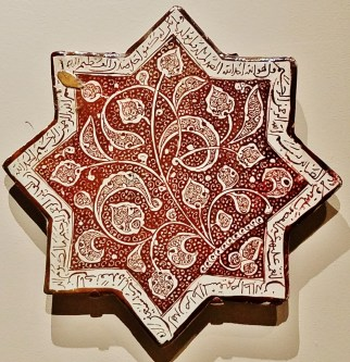 Lusterware Star Shaped Tile (13th Century)