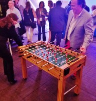 Opening Night Foosball Playing