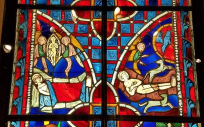 Stained Glass Scenes Life of Saint Vincent, another detail