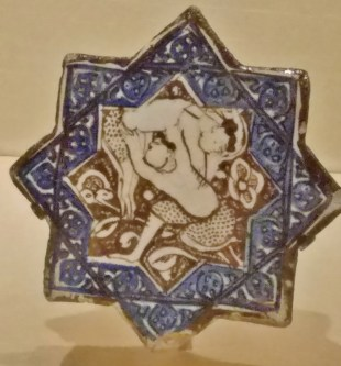 Star Tile with Wrestlers (13th Century)