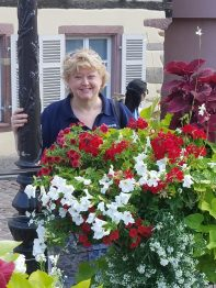Therese with Flowers