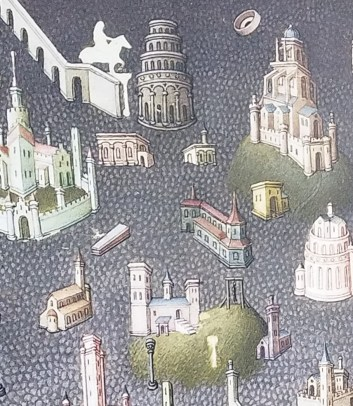 Detail of Second 15th Century Illustration of Rome and the Colosseum