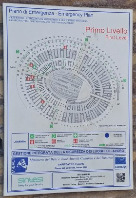 Emergency Plan of First Level of Colosseum
