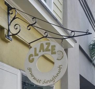 Glazed Gourmet Doughnuts Sign
