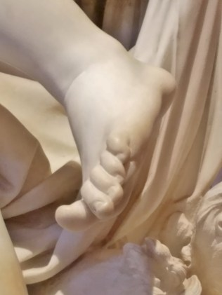 The Abduction of Proserpine Detail Proserpine's Foot