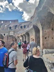 View right after we entered the Colosseum