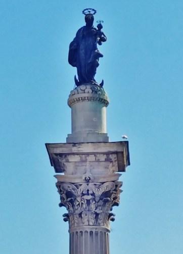 Column with Statue of BMV in front of Santa Maria Maggiore