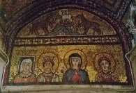 Heads of Saints in Mosaic Over the Altar of Chapel of San Zeno, Church of Santa Prassede Rome