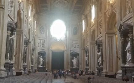 Interior with Niche Sculptures of Basilica of San Giovanni in Laterano Rome