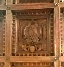 Marquetry Roof in Papal Apartment of Santa Maria Maggiore