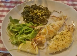 Squid with Broccoli Rabe Entree