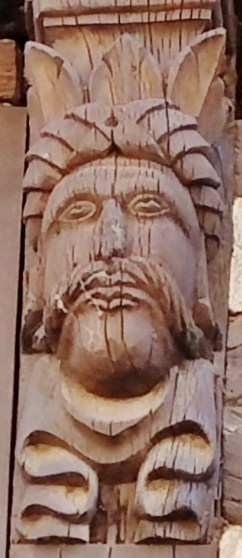 Wooden Head Carving2 on Half-Timbered House Strasbourg