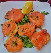 Smoked Salmon on Toasts