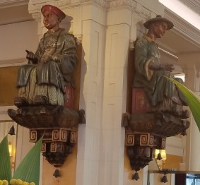 The Two Asian Figurines After Which Café Les Deux Magots is Named