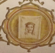 Painting of the Shroud of Jesus in the Basilica of Sant' Anastasia, Verona