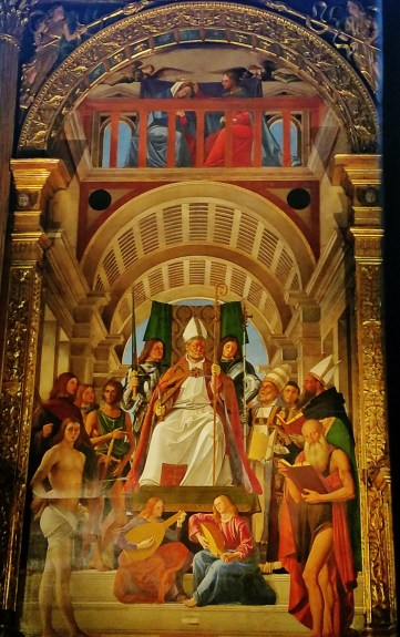 St. Ambrose and Other Saints by Alvise Vivarini
