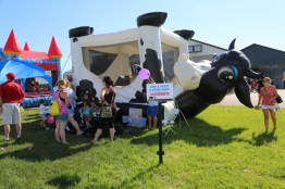 These guys decided to moo-ve along to the bounce houses!