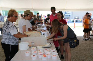 Delicious 2016 Breakfast served by our delightful volunteers - hurray for ice cream strawberry sundaes!