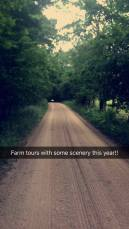 This year's farm tour of Wallace Dairy Farm featured a trip through the shade!