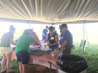 Food prep is fun at 2017 Kewaunee County Breakfast on the Farm