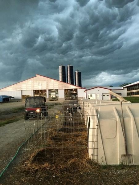 Junion Homestead Farm cloudy