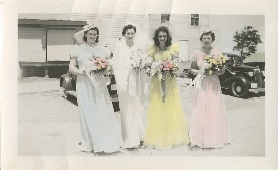 Magdalene Junion with her bridesmaids (4th generation Junion Homestead Farm)