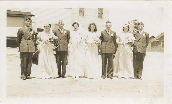 Lawrence & Magdalene Junion's wedding party (4th generation Junion Homestead Farm)