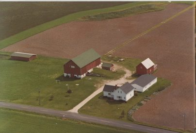 Junion Homestead Farm older aerial photo