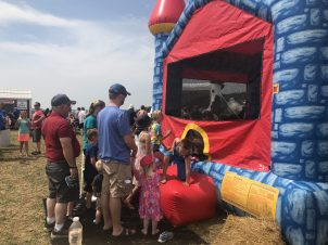 Bouncy Houses were continuously full with high energy kids!
