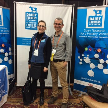 Émie Désilets, Assistant Director of Dairy Production Research, DFC and Dr. Dan Weary, UBC