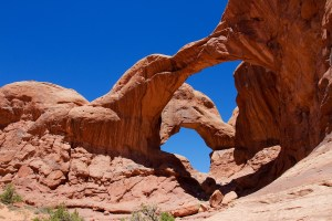 Double Arch in Arches National Park.