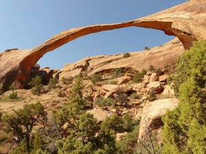 Landscape Arch in Arches National Park It is the longest spanning Arch in the U.S.