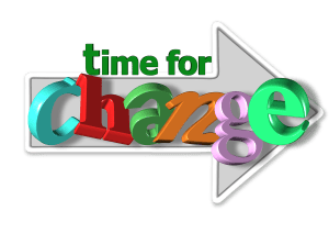 an arrow pinting right with the words time for change written on it. Time for sits on top of arrow, change sits inside of arrow. Change your habits