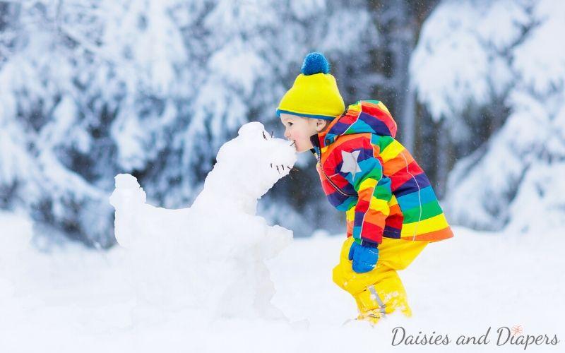outdoor snow day activities for kids