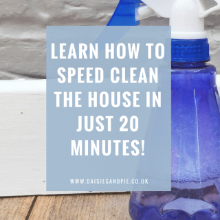 Learn how to speed clean the house in just 20 minutes - amazing cleaning tips that are invaluable at this time of year with all the parties and unexpected guests!