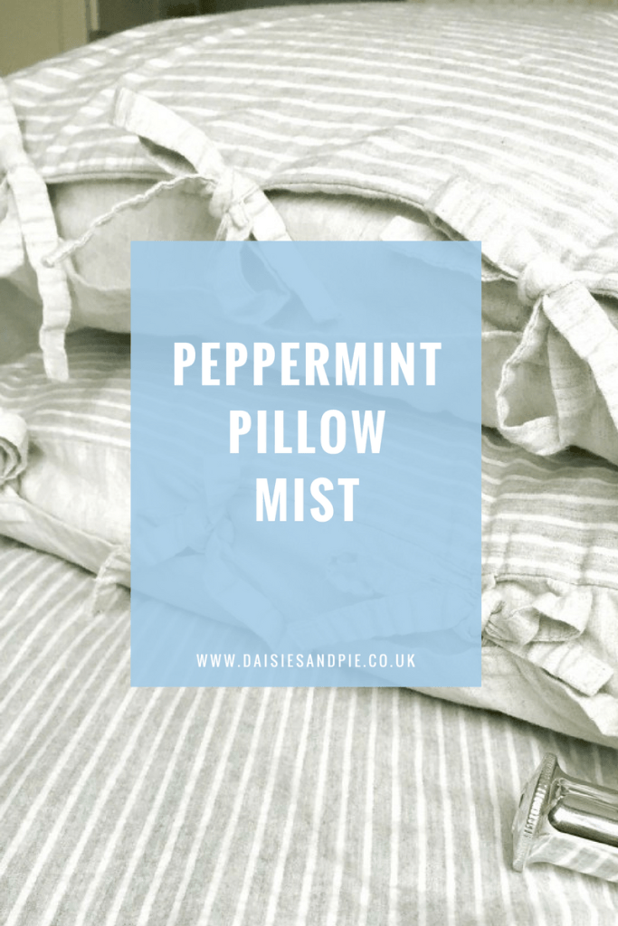 Make your own peppermint pillow spray