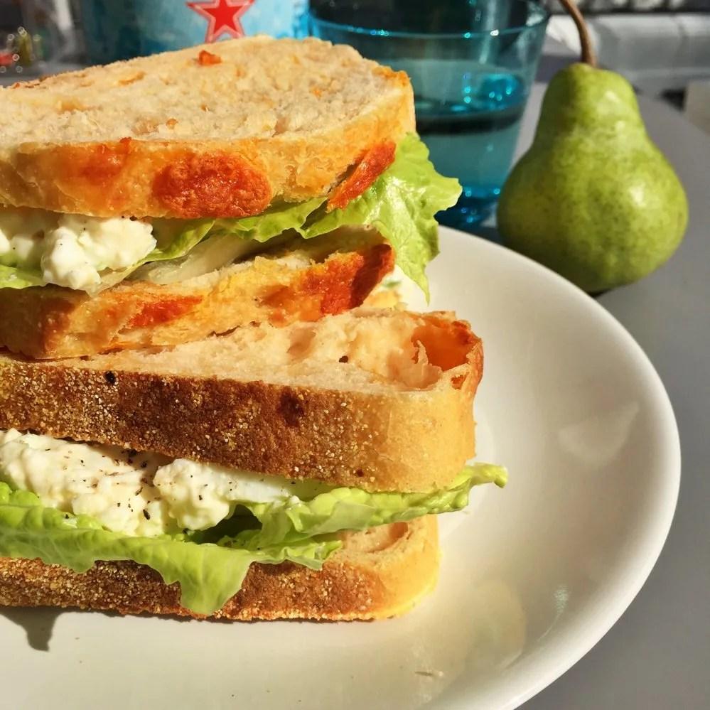 The nicest egg salad sandwich