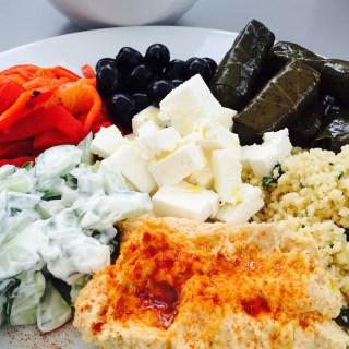 easy mezze, mezze platter, easy greek food, how to make a mezze, mezze recipes, easy family food from daisies and pie