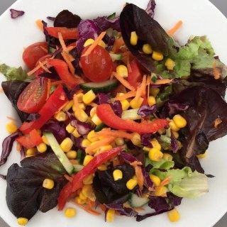 rainbow salad, colourful salad recipe, quick meal ideas, BBQ salad, summer salad recipe, easy family food from daisies and pie