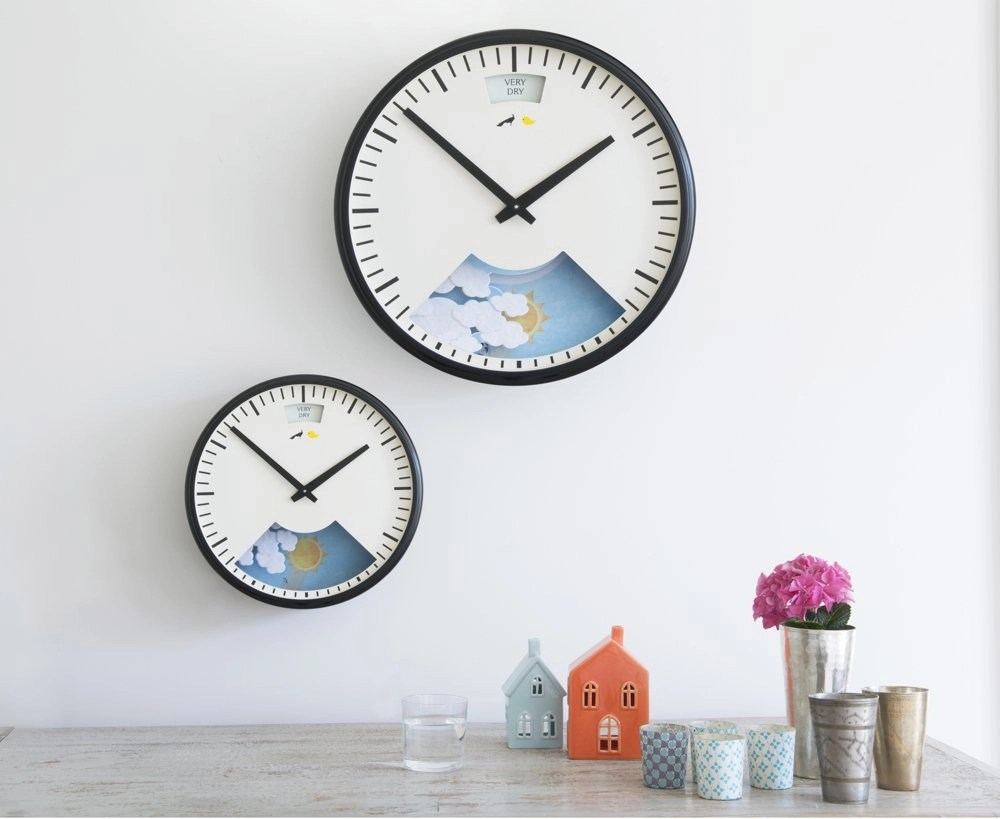 loaf lovebird clock, loaf clock, barometer clock, homestyle from daisies and pie