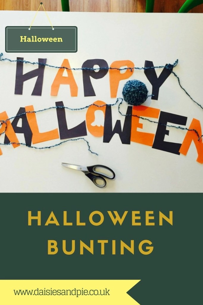 halloween bunting, homemade halloween decorations, easy halloween bunting, halloween decorations, halloween party ideas
