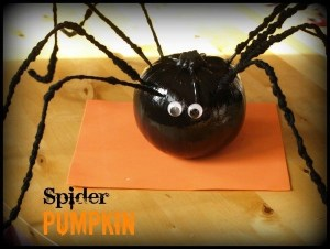 spider pumpkin, how to turn pumpkin into a spider, pumpkin spider craft, halloween decorations for kids