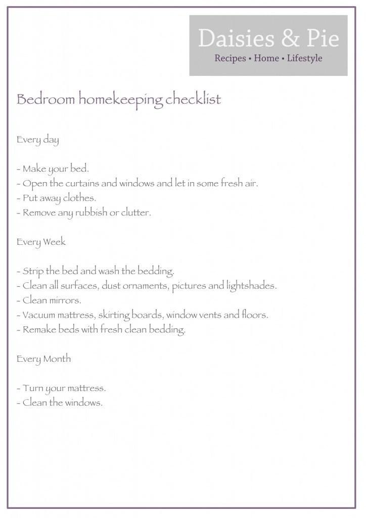 Bedroom homekeeping