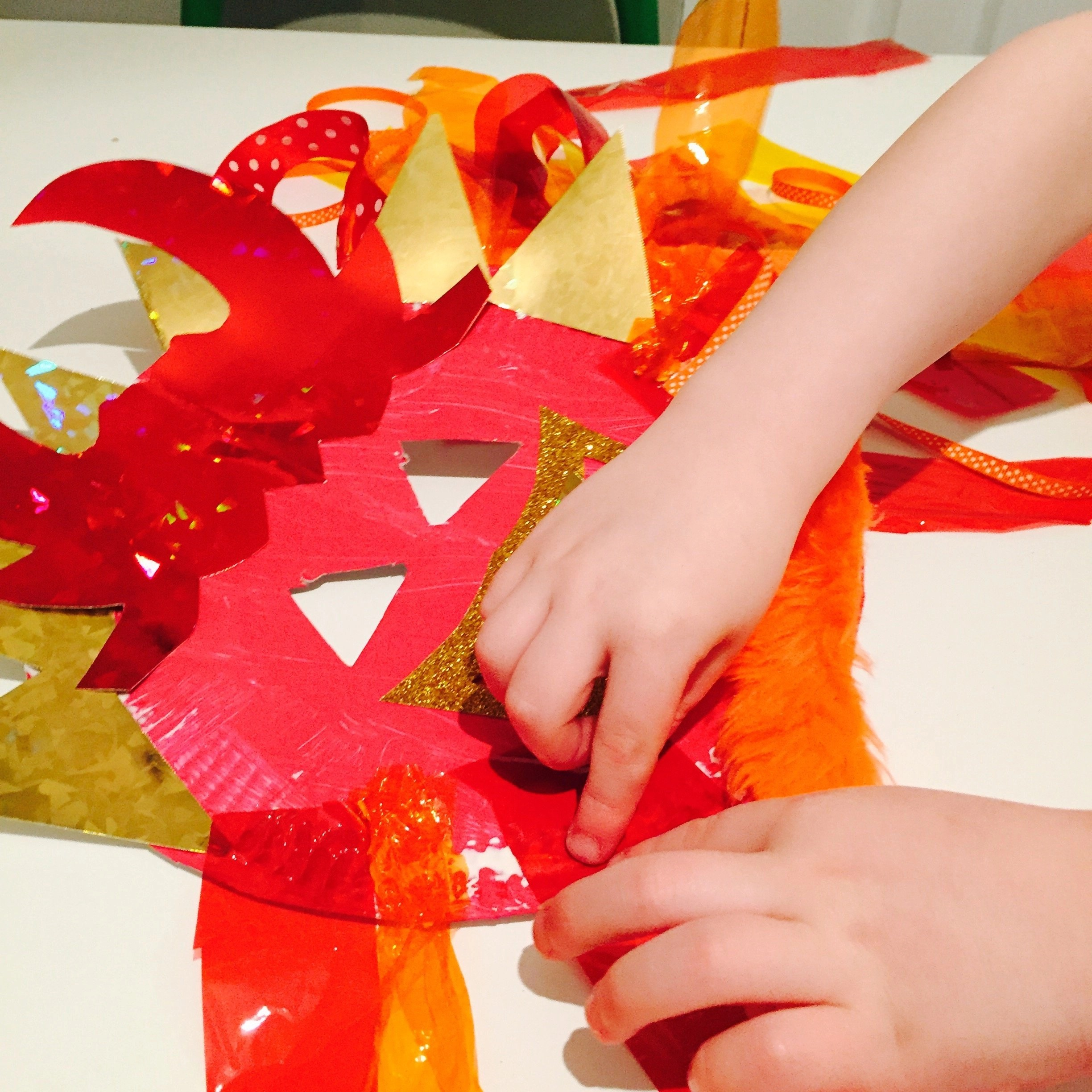 Chinese Dragon Mask Craft For Kids
