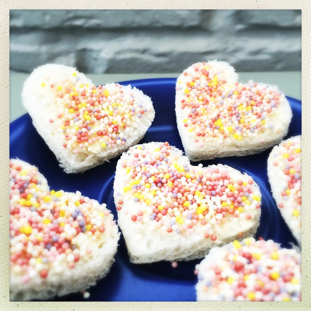 Fairy bread love hearts