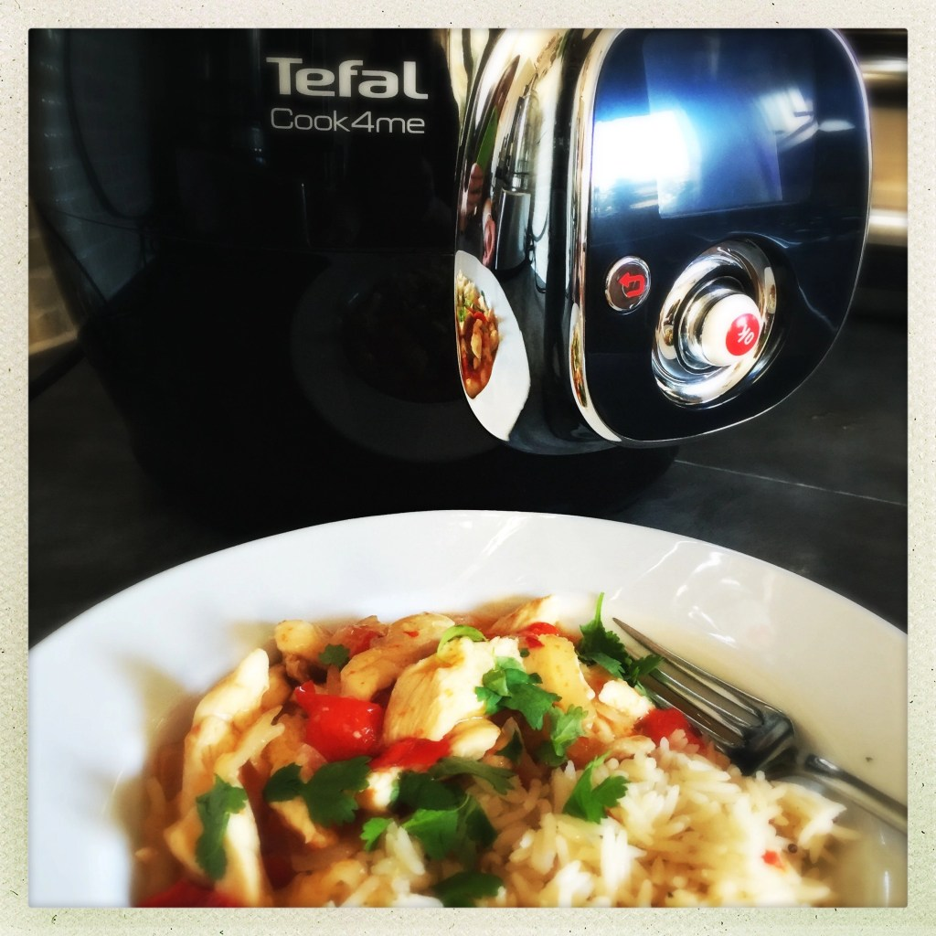 tefal cook4me review, tefal cook4me sweet chilli chicken, easy family food from daisies and pie