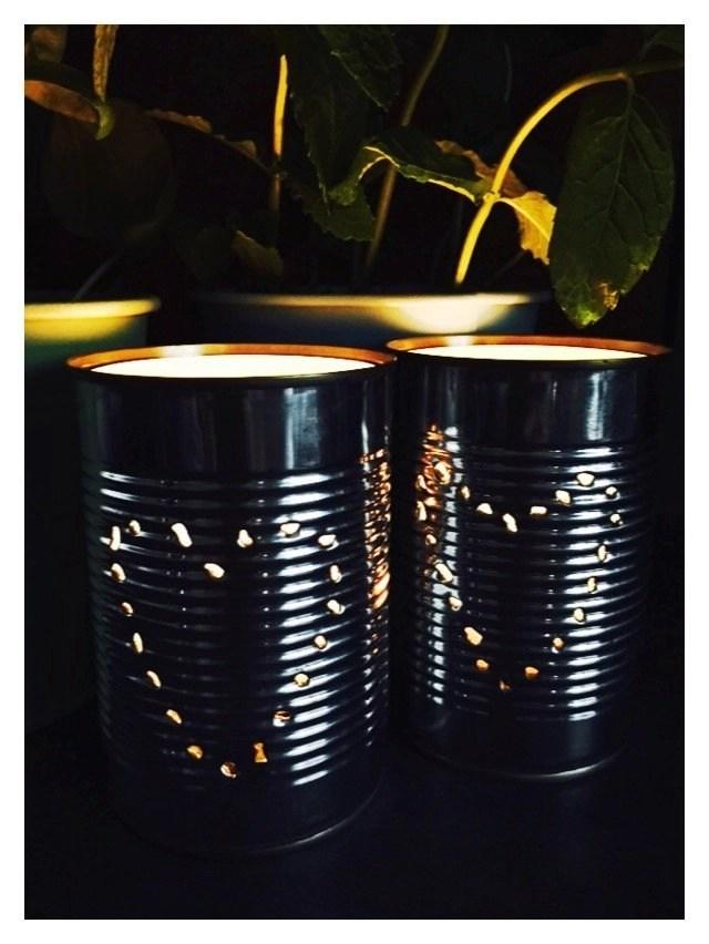 Tin can lanterns in ten minutes