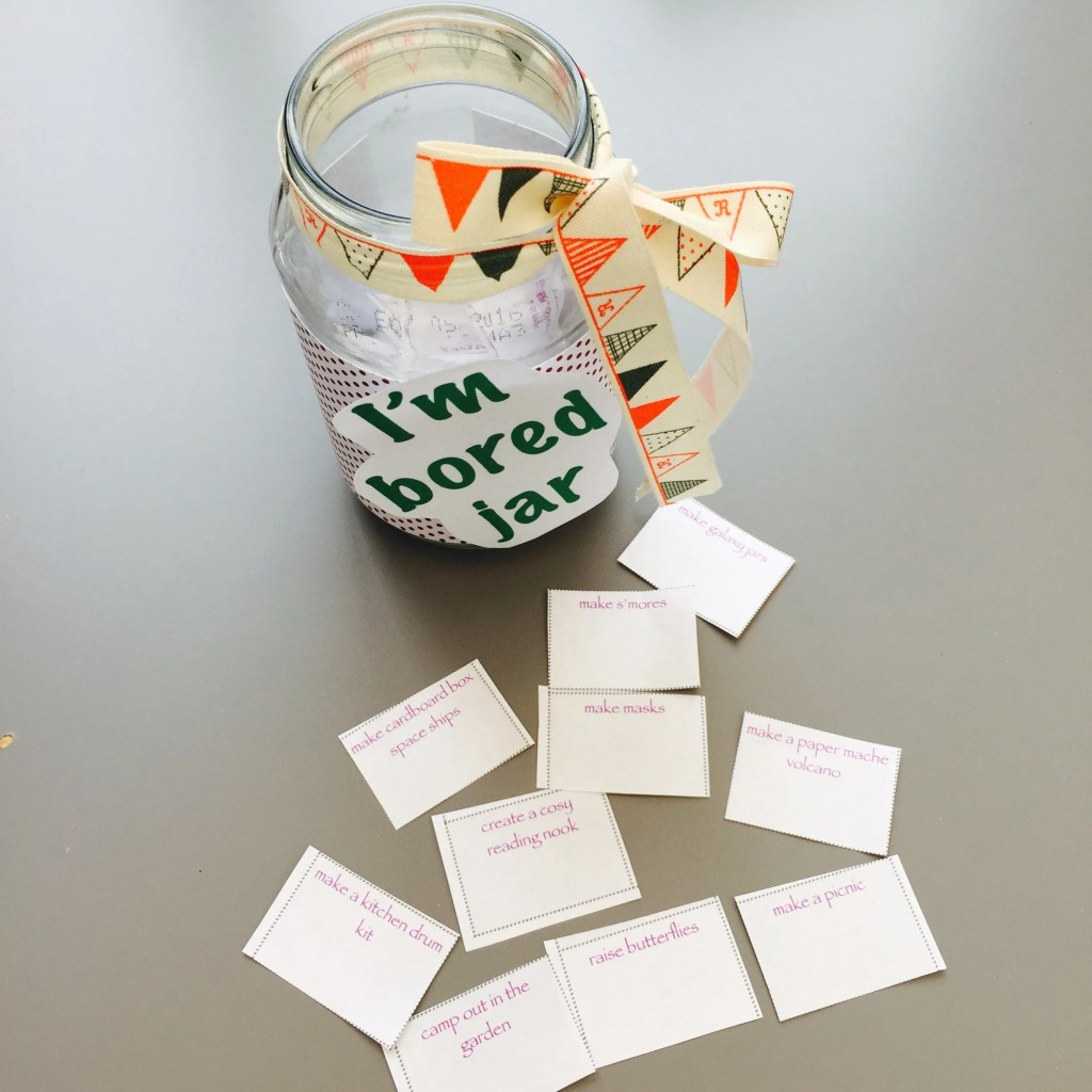 summer bored jar, 100 low cost ideas for keeping kids busy, ultimate bored jar list for kids, summer activities for kids